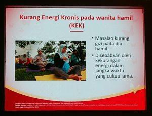 Salah satu slide materi edukasi Kehamilan di Festival SGM Bunda Generasai Maju